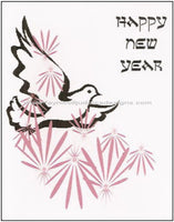 Jewish New Years Greeting Card - Pink Dove