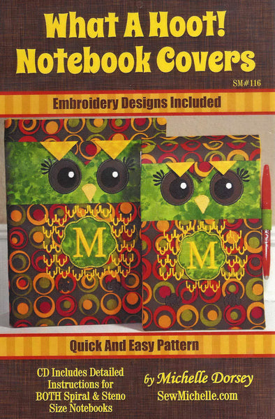 What A Hoot! Notebook Covers (Pattern CD)