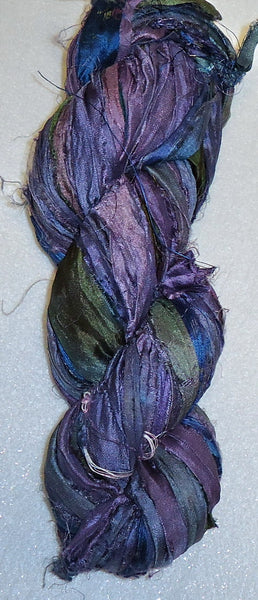 Silk Sari Skein - Purple