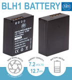 BM Premium 2 Pack of Fully Decoded BL-H1 Batteries for Olympus OM-D E-M1 Mark II, OM-D E-M1 Mark III, OM-D E-M1X, BCH-1, HLD-9 Cameras