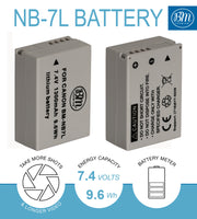 BM Premium 2-Pack of NB-7L Batteries and Battery Charger Kit for Canon PowerShot G10, G11, G12, SX30 IS Digital Cameras