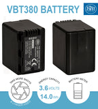 BM 2 VW-VBT380 Batteries and Charger for Panasonic HC-V800K VX1K WXF1K V510 V520 V550 V710 V720 V750 V770 VX870 VX981 HCW580 HC-W850 HC-WXF991