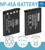 BM NP-45A Battery for Fujifilm INSTAX Mini 90, FinePix XP130 XP140 XP150 XP22 XP30 XP50 XP60 XP70 XP80 XP90 JX520 JX550 JX580 JX590 JX700 JX710 Camera