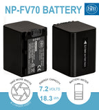 BM Premium 2 Pack of NP-FV70 Batteries for Sony Handycam Camcorders