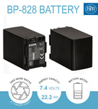 BM Premium BP-828 Battery and Charger for Canon VIXIA HFM300, HFM301, HFM40, HFM41, HFM400, HFS200 Camcorders