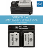 BM Premium 2 Pack of LP-E5 Batteries for Canon EOS Rebel T1i, Rebel XS, Rebel XSi, EOS 1000D, 500D, 450D, Kiss X3, Kiss X2, Kiss F Digital SLR Cameras