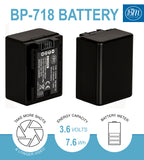 BM Premium 2 BP-718 Batteries and Charger for Canon Vixia HFR50 HFR52 HFR500 HFR60 HFR62 HFR600 HFR70 HFR72 HFR700 HFR80 HFR82 HFR800 Camcorders