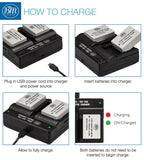 BM Premium 2 Pack of NB-10L Batteries and Dual Bay Charger Kit for Canon PowerShot G15, G16, G1X, G3-X, SX40 HS, SX50 HS, SX60 HS Digital Camera