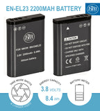 BM Premium EN-EL23 Battery and Charger for Nikon Coolpix B700, P900, P600, P610, S810c Digital Cameras