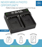 BM Premium 2 Pack of Fully Decoded BL-H1 Batteries and Dual Bay Battery Charger for Olympus OM-D E-M1 Mark II, OM-D E-M1 Mark III, OM-D E-M1X, BCH-1, HLD-9 Cameras