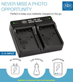 BM Premium 2 Pack of NP-FV50A High Capacity Batteries and Dual Bay Battery Charger for Sony Handycam Camcorders