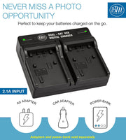 BM Premium 2 Pack of NP-FV70A High Capacity Batteries and Dual Bay Battery Charger for Sony Handycam Camcorders