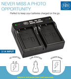 BM Premium 2 Pack of EN-EL5 Batteries and Dual Bay Battery Charger for Nikon Coolpix P80, P90, P100, P500, P510, P520, P530 Digital Cameras