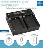 BM Premium 2-Pack of NB-7L Batteries and Dual Bay Battery Charger Kit for Canon PowerShot G10, G11, G12, SX30 IS Digital Cameras