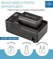 BM Premium NP-FV50A High Capacity Battery and Battery Charger for Sony Handycam Camcorders