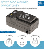BM Premium LP-E12 Battery and Charger Kit for Canon SX70 HS, Rebel SL1, EOS-M, EOS M2, EOS M10, EOS M50, EOS M100, EOS M200 Mirrorless Digital Cameras