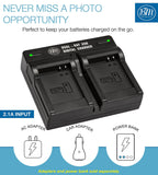 BM 2 DMW-BCM13 Batteries and Dual Bay Battery Charger for Panasonic DC-TS7 DMC-TS5 TS6 TZ37 TZ40 TZ41 TZ55 TZ60 ZS27 ZS30 ZS35 ZS40 ZS45 ZS50 Cameras