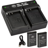 BM Premium 2 Pack of EN-EL23 Batteries and Dual Battery Charger for Nikon Coolpix B700, P900, P600, P610, S810c Digital Cameras