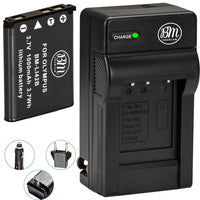 BM Premium LI-40B, LI-42B Battery and Battery Charger for Olympus Tough 3000, TG-310, TG-320, VR310, VR320, VR330 Cameras