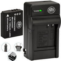 BM Premium CGA-S007 Battery and Charger for Panasonic DMC-TZ1, DMC-TZ2, DMC-TZ3, DMC-TZ4, DMC-TZ5, DMC-TZ11, DMC-TZ15, DMC-TZ50 Digital Camera