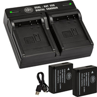 BM 2 Pack of DMW-BLG10 Batteries and Dual Bay Charger for Panasonic Lumix DC-ZS80 DC-GX9 DC-LX100 II DC-ZS200 DC-ZS70 GX80 GX85 ZS60 ZS100 GF6 GX7K