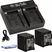 BM 2 BP-820 Batteries and Dual Charger for Canon VIXIA GX10 HF G21 HFG30 HFG40 HF G50 HF G60 XA10 XA11 XA15 XA20 XA25 XA40 XA45 XA50 XA55 Camcorders