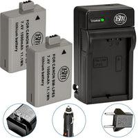 BM Premium 2 LP-E5 Batteries and Battery Charger for Canon EOS Rebel T1i, Rebel XS, Rebel XSi, 1000D, 500D, 450D, Kiss X3, Kiss X2, Kiss F Cameras