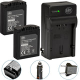 BM Premium 2 CGA-S006 Batteries and Battery Charger for Panasonic Lumix DMC-FZ7 DMC-FZ8 DMC-FZ18 DMC-FZ28 DMC-FZ30 DMC-FZ35 DMC-FZ38 DMC-FZ50 Cameras