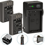 BM Premium 2 Pack of EN-EL9, EN-EL9A Batteries and Charger for Nikon Nikon D5000, D3000, D60, D40x & D40 Digital SLR Camera