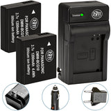 BM 2 DMW-BCG10 Batteries and Charger for Panasonic Lumix DMC-SZ8 TZ25 TZ30 TZ35 ZR1 ZR3 ZS1 ZS3 ZS5 ZS6 ZS7 ZS8 ZS9 ZS10 ZS15 ZS19 ZS20 ZS25 Cameras
