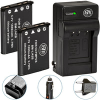 BM Premium 2 Pack of LI-40B, LI-42B Batteries and Battery Charger for Olympus Tough 3000, TG-310, TG-320, VR310, VR320, VR330 Cameras