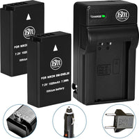 BM Premium 2 EN-EL20, EN-EL20A Batteries and Charger for Nikon Coolpix P950, P1000, DL24-500, Coolpix A, 1 AW1, 1 J1, 1 J2, 1 J3, 1 S1, 1 V3 Cameras