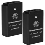 BM Premium 2 Pack of EN-EL20, EN-EL20A Batteries for Nikon Coolpix P950, P1000, DL24-500, Coolpix A, 1 J1, 1 J2, 1 J3, 1 S1, 1 V3 Digital Cameras