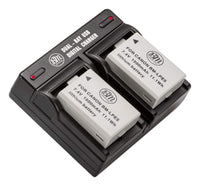 BM 2 Pack of LP-E5 Batteries and USB Dual Battery Charger for Canon Rebel XS, Rebel T1i, Rebel XSi, 1000D, 500D, 450D, Kiss X3, Kiss X2, Kiss F Camera