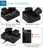 BM 2 BP-718 Batteries and Dual Battery Charger for Canon HFR400 HFR50 HFR52 HFR500 HFR60 HFR62 HFR600 HFR70 HFR72 HFR700 HFR80 HFR82 HFR800 Camcorders