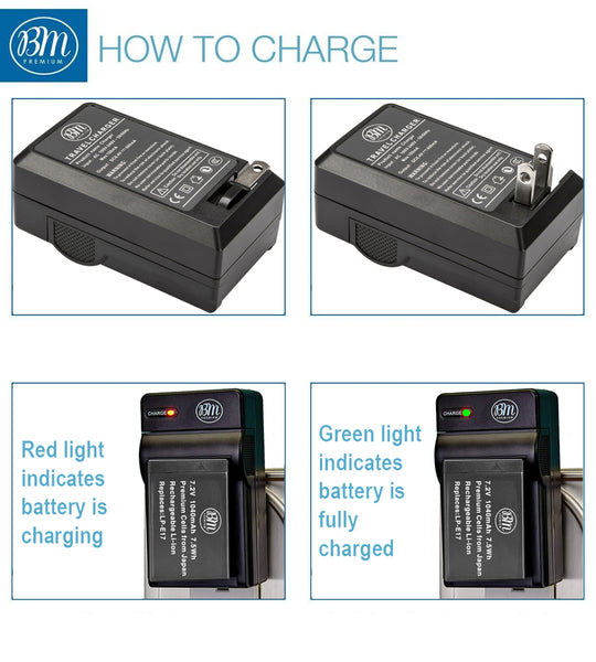 LC-E17 Battery Charger for Canon EOS RP 77D M6 Mark II M5 M3 Rebel T7i T6i T6s SL3 SL2 Camera