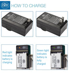 BM Premium 2-Pack of LP-E8 Batteries and Battery Charger for Canon EOS Rebel T2i, T3i, T4i, T5i, EOS 550D, EOS 600D, EOS 650D, EOS 700D Cameras