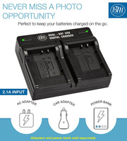 BM 2 LI-92B, LI-90B Batteries and Dual Bay Charger for Olympus Tough TG-6 TG-5 TG-Tracker TG-1 TG-2 TG-3 TG-4 SH-1 SH-2 SH-50 SH-60 SP-100 XZ-2 Camera