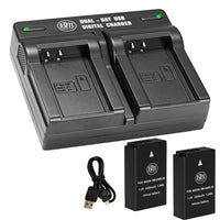 BM 2 EN-EL20A Batteries and Dual Bay Battery Charger for Nikon Coolpix P950 P1000, DL24-500, Coolpix A 1 AW1, 1 J1, 1 J2, 1 J3, 1 S1, 1 V3 Cameras