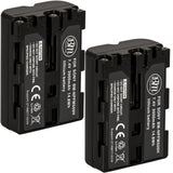 BM Premium 2 Pack of NP-FM500H Batteries for Sony Alpha a77II, a68, SLT-A57, SLT-A58, A65V, A77V, A99V, A100, A200, A300, A350, A450 DSLR Cameras