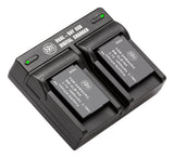 BM Premium 2 SLB-10A Batteries and Dual Bay Battery Charger for Samsung EX2F, WB200, WB250F, WB2100, WB500, WB550, WB750, WB800F, WB850, WB850F Camera