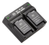 BM Premium 2 Pack of EN-EL12 Batteries and Dual Battery Charger for Nikon Coolpix S8200, S9050, S9200, S9300, S9400, S9500, S9700, S9900 Cameras
