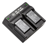 BM Premium 2 LI-42B Batteries and Dual Bay Charger for Olympus Tough 3000, TG-310, TG-320, VR310, VR320, VR330, Stylus 7010, 7020, 7030, 7040 Cameras