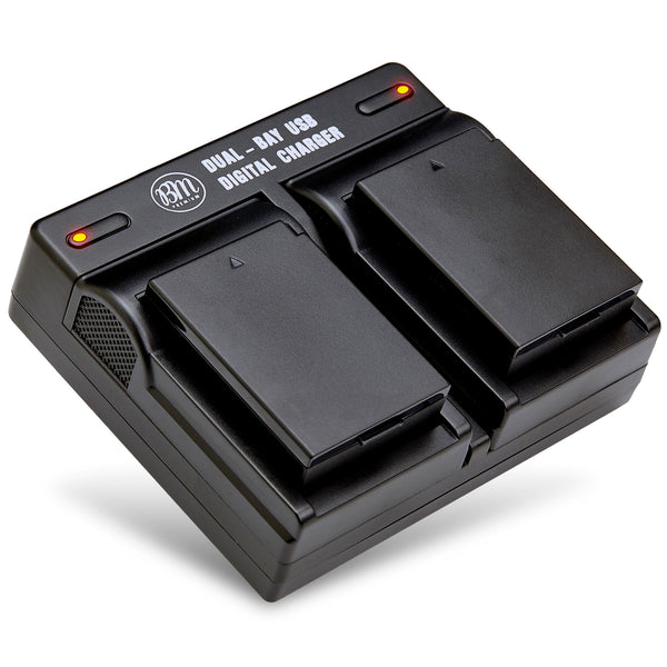 BM Premium 2 LP-E10 Batteries and Dual Bay Battery Charger for Canon EOS Rebel T3, T5, T6, T7, EOS 1100D, EOS 1200D, EOS 1300D, EOS 2000D Cameras