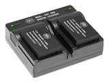 BM 2 LP-E17 Batteries and Dual Bay Charger for Canon EOS M6 Mark II, SL2, SL3, EOS RP, EOS M3, EOS M5, EOS M6, EOS Rebel T6i, T6s, T7i, T8i Cameras