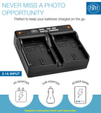 BM Premium 2 Pack of LP-E6N Batteries and Dual Bay Charger for Canon EOS 5Ds, EOS 6D, EOS 6D Mark II, EOS 7D, EOS 7D Mark II, C700, XC10, XC15 Cameras