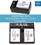 BM Premium 2-Pack of LP-E8 Batteries for Canon EOS Rebel T2i, T3i, T4i, T5i, EOS 550D, EOS 600D, EOS 650D, EOS 700D DSLR Digital Cameras