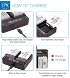 BM Premium 2-Pack of LP-E8 Batteries and Dual Bay Battery Charger for Canon Rebel T2i, T3i, T4i, T5i, EOS 550D, EOS 600D, EOS 650D, EOS 700D Cameras