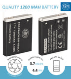 BM 2 NB-6LH Batteries for Canon PowerShot S120 SX170 IS SX260 SX280 SX500 SX510 SX520 SX530 SX540  SX600 SX610 SX700 SX710 ELPH 500 D10 D20 D30 Camera