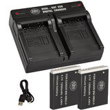 BM 2 NB-6LH Batteries and Dual Bay Charger for Canon PowerShot S120 SX170 IS SX260 SX280 SX500 SX510 SX520 SX530 SX540 SX600 SX610 SX700 SX710 Cameras